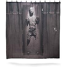 Han Solo en carbonita cortina de ducha