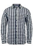 JACK & JONES Originals Zagros Herren Freizeithemd Hemd Mit Karomuster, Größe:M, Farbe:Cloud Dancer