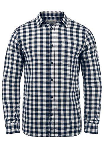 JACK & JONES Originals Zagros Herren Freizeithemd Hemd Mit Karomuster, Größe:L, Farbe:Cloud Dancer