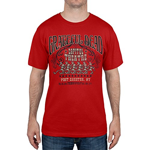 Dead-hemd Grateful (Grateful Dead Herren Freizeit-Hemd Gr. Medium, Rot - Rot)
