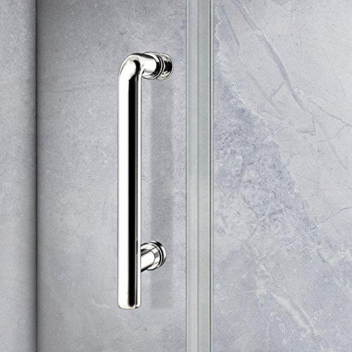 100 x 185 cm Nischentür Duschtür Schiebetür Duschabtrennung Duschwand aus 5mm ESG Sicherheitsglas Klarglas ohne Duschtasse - 5