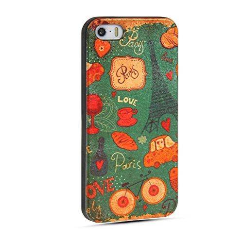 MOONCASE Gel TPU Silicone Housse Coque Etui Case Cover pour Apple iPhone 5 5S 17