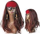 Hochwertige Fasching Piraten Braut Perücke mit Perlen