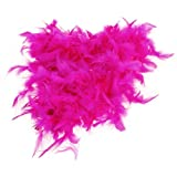 Magenta Feather Boa Fluffy Craft Decoration 6.6 Feet Long by BeautyLife