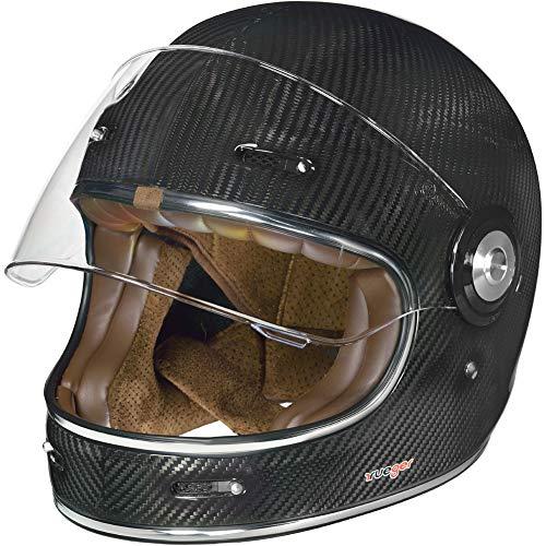 RT-825 Carbon Integralhelm Motorradhelm Chopper Integral Retro Helm rueger, Größe:M (57-58), Farbe:Carbon