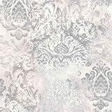 P+S Vintage Queen Vlies Tapete 02496-32 Barock Grau