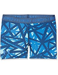 Under Armour Printed Armour Shorty Shorts, Girls, Azul (Venetian Blue), YLG
