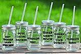 Party Becher mit Strohhalm, Deckel und witzigen Sprüchen Getränke Glasbecher - 1 STÜCK (Gute Laune Macher)