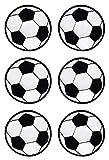 Fußball Schwarz Aufnäher Spar-Set 6 Stück Bügelbilder Applikation