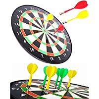 """Buyingzone 16"""" Official Size Magnetic Dartboard with 6 Darts included Fun Play"""