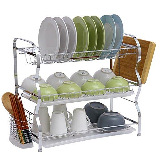 DS Regal Lagerregal - 22-Zoll-DREI-Lagen-Geschirrkorb für große Küchenablagen && -