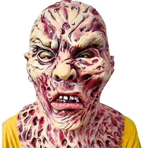 Kopf Kürbis Geist Kostüm - Starall Halloween Prop Walking Dead Geist Latex Maske voller Kopf Horror Zombie Masken Kostüm Party Decor