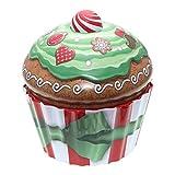 POWERHAUS24 Cup Cake Dose Merry Christmas, Keksdose, Muffindose, Aufbewahrung, Blechdose Vol. 1,5l