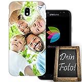 dessana Eigenes Foto transparente Silikon TPU Schutzhülle 0,7mm dünne Handy Tasche Soft Case für Samsung Galaxy J7 (2017) Personalisiert Motiv