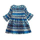 Zarupeng Baby Mädchen Bohemian Stil Party Kleid Kleinkind Langarm Prinzessin Kleid Festlich Body Outfits Kleidung