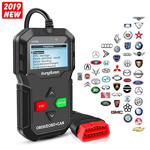 kungfuren OBD2 Diagnosegerät klassisch verbesserter Universal USB Kabel Automotor Fehler-Code Scanner Diagnose Scan Werkzeug für alle OBDII Protokoll Autos
