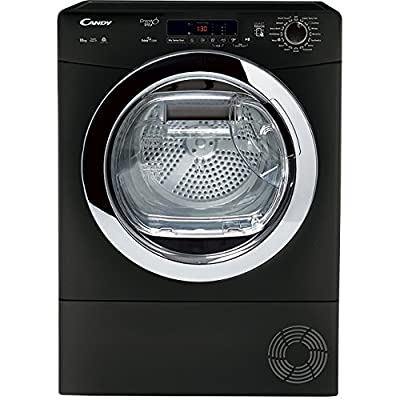 Candy GVSC10DCEB Freestanding B Rated Condenser Tumble Dryer in Black by Hoover Group