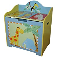 Leisure Traders Safari Childrens Wooden Toy Box - Childrens Furniture