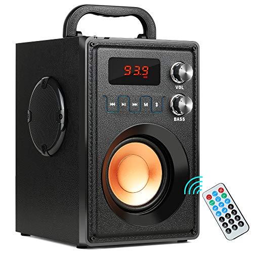 BAIYI Bluetooth Lautsprecher Portable Stereo Bass Wireless 20W Big Power Speakers mit Remote Control FM Radio Mic TF AUX USB Multimedia-volume-control