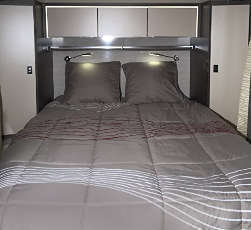Preisvergleich Produktbild MIDLAND Pret-a-Dormir Vibes 140x200 Lit Central - Linge de lit camping-car