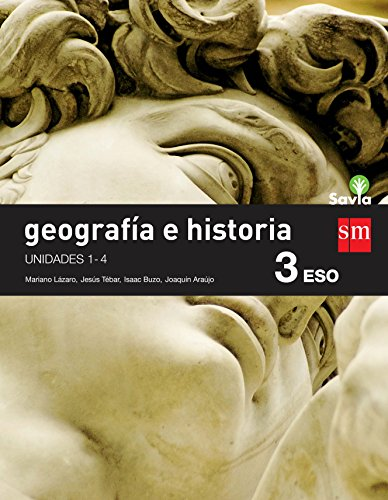 Geografía e historia. 3 ESO. Savia. Trimestres - Pack de 3 libros - 9788467583410 por Jesús Tébar Arjona