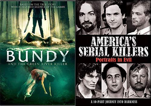 The American Phenomenon Of Serial Killers DVD Bundle - America's Serial Killers: Portraits of Evil & Bundy And The Green River Killers Documentary/ Horror Collection
