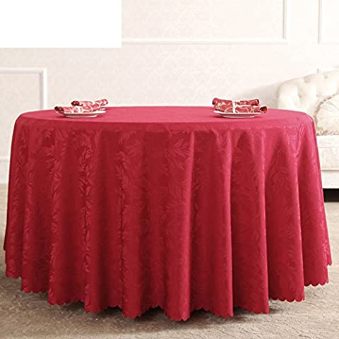 GXX table ronde tissu/jardin de style européen Western Wallpapers/ Nappe Hotel/ nappes rouges mariage de mariage-A diamèGXX160cm(63inch)