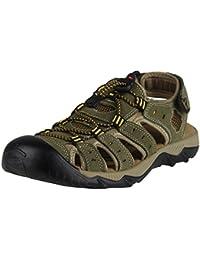 iLoveSIA Hombre Cuero Sandalias Deporte Zapato