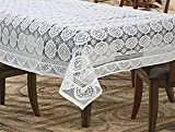 #10: Ans Center table /4 seater dinning table cover 38x58 inches table cover white net fabric