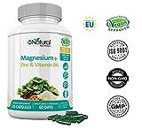 ZMA Magnesio Zinc Vitamina B6 - 120 Cápsulas de Clorofila.Certificado VEGANO CE.N2 Natural Nutrition