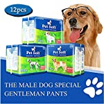 Pet Soft Male Dog Nappies - Disposable Dog Wraps Male, Super Absorbent Doggy Pet Diapers for Dogs & Cats Urinary incontinence XS 12count