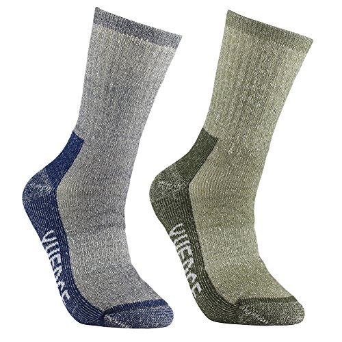 men's merino wool hiking walking trekking socks - yuedge merino wool cushioned crew socks for hiking backpacking climbing winter