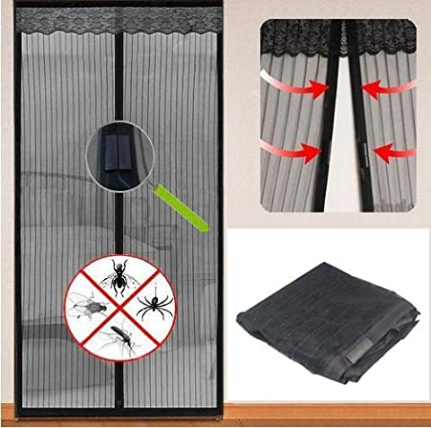 Magnetic Screen Door Insect Door Mesh Curtain Magnetic Fly Screen Net Doorways Doors Patio Mesh Protection Door Net Curtain Top-to-Bottom Keeps Bugs Mosquitoes Out Lets Fresh Air