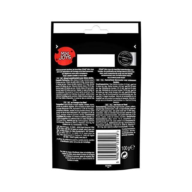CESAR Mini-Joys - Récompenses au Fromage et au B½uf, pour Chien, 6 Sachets de 100g de Friandises