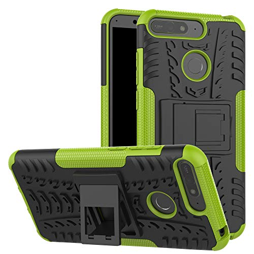 betterfon | Outdoor Handy Tasche Hybrid Case Schutz Hülle Panzer TPU Silikon Hard Cover Bumper für Huawei Y6 (2018) Grün (Handy Hard Case)