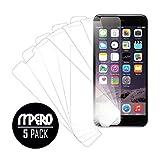 "MPERO Colección (5 Pack) of Ultra Claro Protectores de Pantalla para Apple iPhone 6 Plus / iPhone 6S Plus 5.5"""