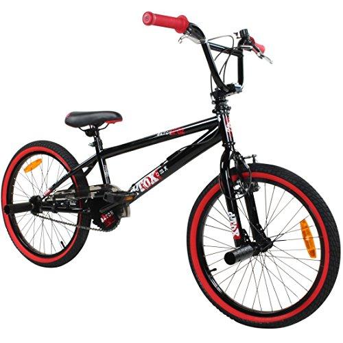 deTOX 20\' BMX Freestyle Kinder Anfänger ab 130 cm, 7 J, Farbe:schwarz/rot