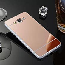 Coque Miroir Silicone TPU Galaxy A5 2016,Mirror Coquille pour Samsung A5 2016,Leeook Noble Elegant Cool Rose Or Semi Rigide Coque Effet Miroir Etui TPU Téléphone Coque Coquille de protection Flex Soft Gel en Caoutchouc Bumper Shockproof Anti Scratch Housse Pailletee Rigid Back Cover pour Samsung Galaxy A5 2016 + 1 x Noir Stylet-Rose Gold