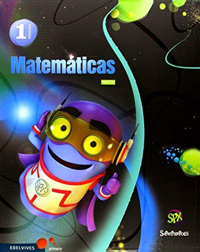 Matemáticas 1º Primaria (Pauta) Tres Trimestres (Superpixépolis) - 9788426392930