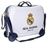 Disney, valigia rigida in ABS per bambini, utilizzabile come bagaglio a mano Bianco 02 Real Madrid carry-on
