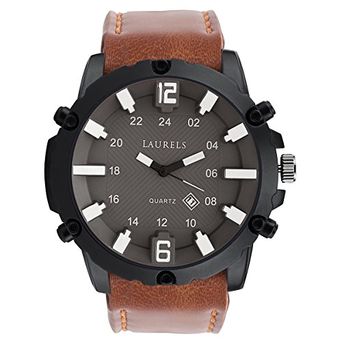 Laurels Analogue Brown Dial Men\'S Watch Lo-Hulk-090209