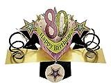 Geburtstagskarte 3D Pop-Up, 80. Geburtstag