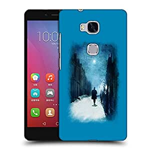 Snoogg Walking Lonely Designer Protective Back Case Cover For HUAWEI HONOR 5X