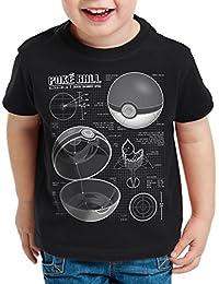 A.N.T. Pokéball Blaupause T-Shirt für Kinder monster spiel online