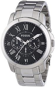 Fossil FS4736 - Reloj cronógrafo de cuarzo para hombre con correa de acero inoxidable, color plateado de Fossil