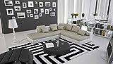 SalesFever Wohn-Landschaft in Wildleder-Optik 240x220 cm L-Form Creme/weiß   Irava   Design Couch-Garnitur mit Recamiere Links und vielen Kissen  Sofa-Ecke für Wohnzimmer Creme/Weiss 240cm x 220cm