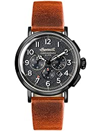 Ingersoll Men's The St Johns Quartz Watch with Grau Dial and Tan Leather Strap I01702