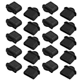 SLB Works 20Pcs Black Dust Plastic Cover for Digital Product Micro-HDMI