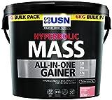 USN Hyperbolic Mass Gain Shake Powder, Strawberry Flavour - 6 kg