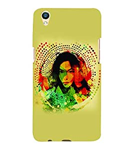 PrintVisa Stylish Cool Girl Modern Art 3D Hard Polycarbonate Designer Back Case Cover for Oppo F1 Plus